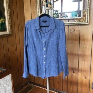 Perfect Banana Republic Linen Button-Up Shirt